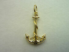 New Small 9ct Yellow Gold Anchor Pendant/Charm