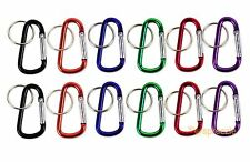 "Carabiner 2.25"" Aluminum Hook Lock Key Chain Key Ring Spring Belt Clip Lot of 12"