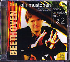 SACD Olli MUSTONEN: BEETHOVEN Piano Concerto No.1 & 2 Ondine Topiola Sinfonietta