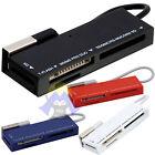 Multi LETTORE Card USB Reader 2.0 MICRO Mini FLASH SD M2 MS Duo PRO RS MMC Combo