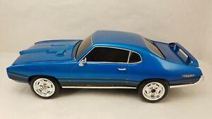 Vintage Nikko Radio Control Blue 1969 Pontiac GTO w/Opening Hood - No Control