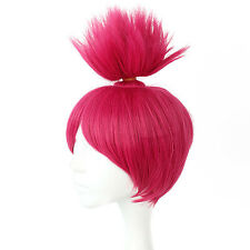 Trolls Princess Poppy Fantastic Cool Pink Hair Cosplay Accessories Synthetic Wig