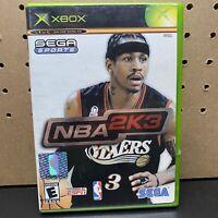 SEGA SPORTS NBA 2K3 Microsoft Xbox Game Complete With Manual TESTED - Fast Ship