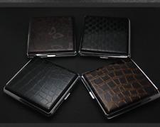 Leather Flip Open Cigarette Storage Case Tobacco Box Holder For 20pcs Cigarette