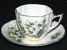 K.H.I.  FLORAL CUP AND SAUCER  FINE BONE CHINA  , MADE IN  ENGLAND