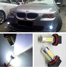 2 x bright white H11/7.5W LED Fog Light Bulbs For BMW 530i 2002 E39 5 series