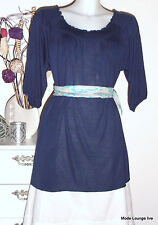 Noa Noa Tunique Chemisier Bleu Nouveau Robe Long-Top Shirt Ashton Jersey M 38 Trust