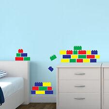 LEGO Mattoni X 40 di adesivi murali Pack Decalcomania Trasferimento blocchi Decorazione Camera da Letto
