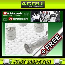 Richbrook Spinning Argento Auto Anti Furto valvola tappi polvere set di 4 + GRATIS