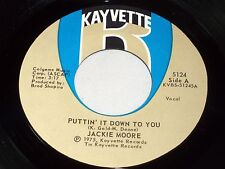 Jackie Moore: Puttin' It Down To You / Never is Forever  [Unplayed Copy]