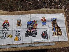 Dog Prints 100% Cotton Fabric Material Pieces for Applique Dalmatian, Shephard