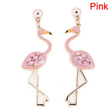 Flamingo Pendant Earrings Drop Dangle Ear Stud Earrings Jewelry Women Pip MW