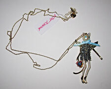 BETSEY JOHNSON CELESTIAL STARLET HEAVEN ON EARTH KITTY LONG PENDANT