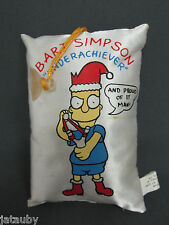 "BART SIMPSON Christmas Pillow/Suction Cup Hanger - ""Underachiever"""