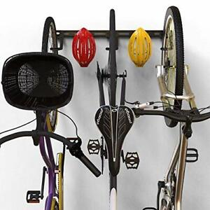 Koova Wall Mount Bike Storage Rack Garage Hanger for 3 Bicycles + Helmets | F...
