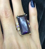 Turkish Handmade Jewelry Sterling Silver 925 Amethyst Ring 6,7,8,9