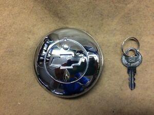 1938-1971 GM,Chevy car & truck NEW chrome locking vented gas cap w/ GM key