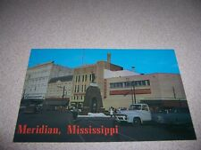 1950s CONFEDERATE MONUMENT DOWNTOWN MERIDIAN MISSISSIPPI VTG POSTCARD
