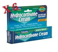 6 Pack of Natureplex Maximum strength Hydrocortisone Cream compare Cortaid
