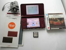 NINTENDO DSI XL BURGUNDY COLOUR HAND GAME CONSOLE PLUS NINTENDO BUNDLE ITEMS