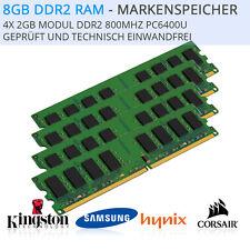 8GB (4x 2GB) DDR2 RAM Arbeitsspeicher PC6400U 800Mhz - INTEL + AMD Rechnung/Mwst