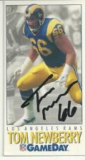 New listing Tom Newberry LA Rams/ Wisconsin LaCrosse Personally Autographed Card