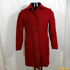 L.L. BEAN Wool Cashmere Jacket COAT Womens Size 6 Red