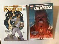 Star Wars Graphic Novel Lot: Princess Leia & Chewbacca Marvel
