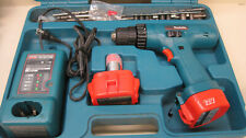 Makita Cordless Drill Screwdriver w/ 2 Batteries 1200 1222 & DC1414 Charger Case