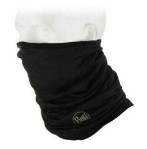 Buff Lightweight Merino Wool Multifunctional Headwear Merino Wool Bandana  BLACK