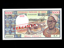 Congo:P-3es,1000 Francs,1982 * Man * Specimen * UNC *