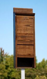 New BestNest Premium Stained Wooden Bat House Dark Brown 65 Bats