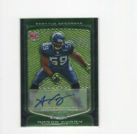 2009 Bowman Chrome Aaron Curry Autograph Rookie Card Seattle Seahawks RC AUTO!