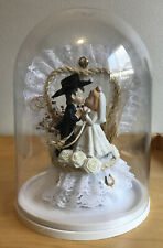 Country Western COWBOY COWGIRL Wedding Cake Topper Porcelain
