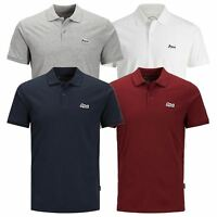 JACK & JONES Jet Mens Polo T Shirt Jersey Short Sleeve Collar Casual Top