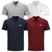 JACK & JONES Jet Mens Polo T Shirt Jersey Short Sleeve Collar Casual Top