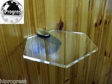 Wall Clear Acrylic Plexi-glass Hexagon Shelf Organizer Shelves Holder 20X17.5 cm