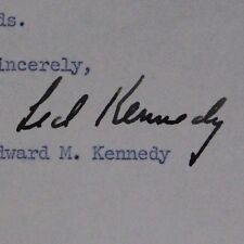 Edward Ted Kennedy (d.2009) Massachusetts Senator Signed 1964 Letter 16H