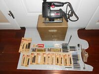 "VINTAGE ""CRAFTSMAN 315.10721 SCROLLER SAW"" IN ORIGINAL METAL CASE ~ 75 BLADES"