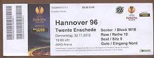 Orig.Ticket     Europa League 12/13    HANNOVER 96 - TWENTE EBSCHEDE  !!  SELTEN