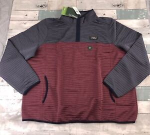 L.L.BEAN Airlight Knit Pullover In Gunmetal Gray/lightrosewood Jacket Size 1X