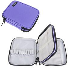 Damero Crochet Hook Case, Organizer Zipper Bag with Web Pockets for Various