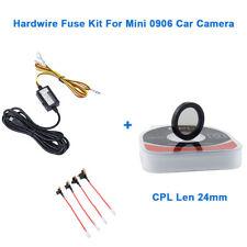 For Mini 0906 Car Dash Cam DVR Parking Mode Guard Hardwire Fuse+CPL Lens 24MM US