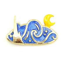 Islamic Muslim Brooch Pin Jewelry Gift Betsey Johnson Enamel Mountain Moon Charm