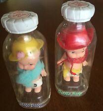 2 Rare REMCO 1967 Bottle Baby / Babies Plastic Dolls - Cowboy & Grandma