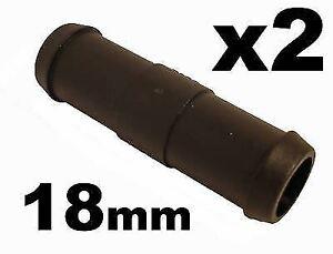 2 connettori longilinei - per tubi acqua, carburante e sfiato - 18mm