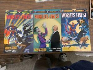 WORLD'S FINEST #1-3, DC comics, (1990) FORMATS (SUPERMAN, BATMAN, JOKER)