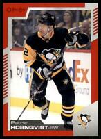2020-21 UD O-Pee-Chee Red Border #282 Patric Hornqvist - Pittsburgh Penguins