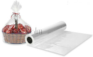 20 Meter Clear Sea Through Cellophane Wrapping Gift Paper | Hampers Wrap