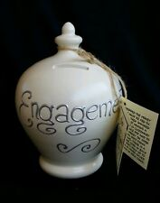 TERRAMUNDI Money Pot Bank ENGAGEMENT Handmade in Italy Painted in England NWT